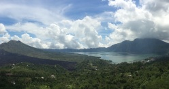 Kintamani volcano with lake
