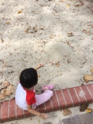 Ally's favorite sand play time!